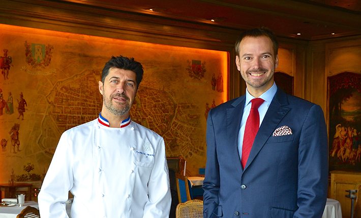 André Terrail, president and owner of Tour d'Argent Paris, with executive chef Philippe Labbé